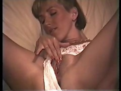 Amateur milf playing while hubby tapes