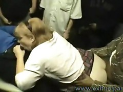 Gangbang with a Mother in local Bar