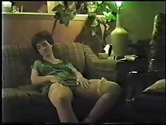 Girl masturbating with dildo