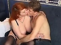 drunk mature redhead