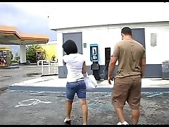 Latina Gas Station Public Blow Job. enjoy