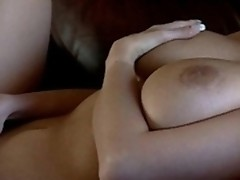 Veronica Zemanova plays with cunt in armchair